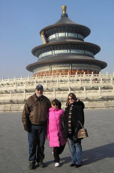 My parents and I standing at my abandonment place, Temple of Heaven, days before we flew to my new home in the States